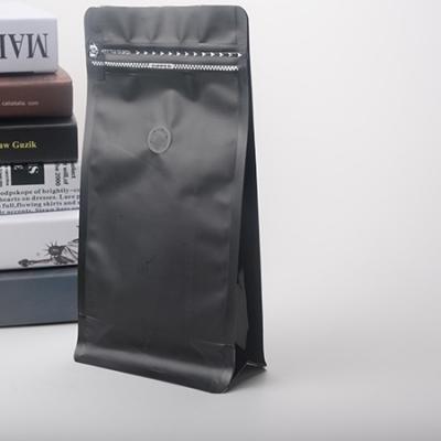 黑色咖啡豆八边封包装袋|带单向排气阀